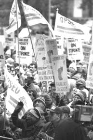 CAAT(S) employees on strike