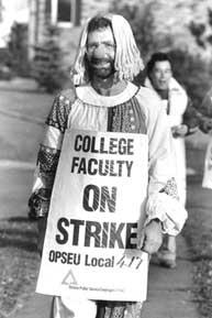 College Faculty member on strike