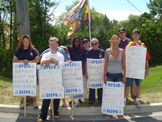 OPSEU members on strike