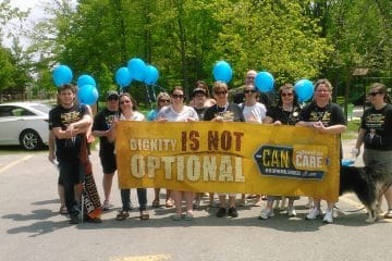 """Developmental Services workers across Ontario deliver clear message: """"Dignity is not optional"""""""