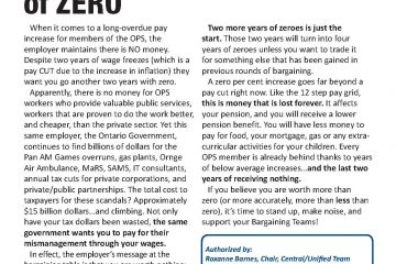 OPS Issue Sheet #2 - Wage freeze continues: At least two more years...of ZERO