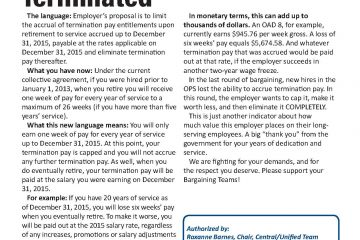 OPS Issue Sheet #3 - Termination pay: Terminated