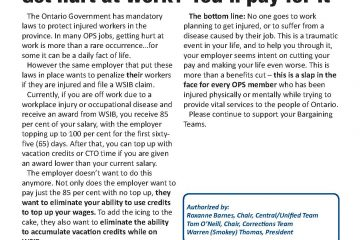 OPS Issue Sheet #5 - Get hurt at work? You'll pay for it