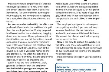 OPS Issue Sheet #7: The 5 per cent lower start rate - The 'Race to the Bottom' begins