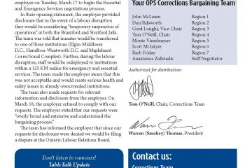 OPS Table Talk 2015 Issue 10 - Corrections denied disclosure requests