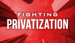 Fighting Privatization Campaign Button