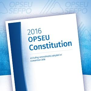 OPSEU's Constitution
