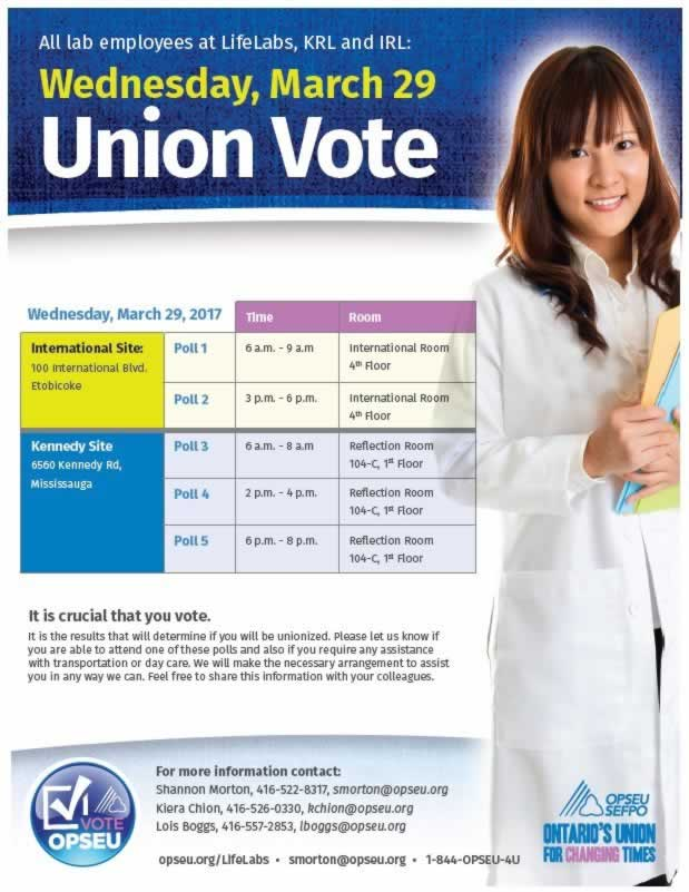 Union Vote flyer