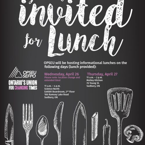 Lunch invitation flyer