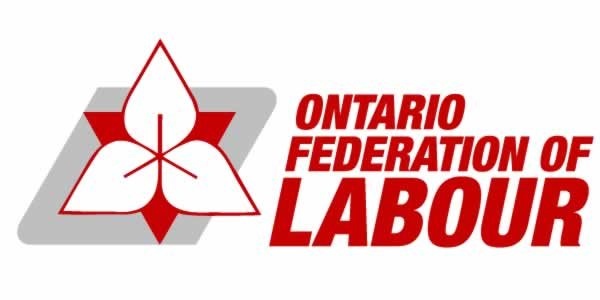 ontario federation of labour with logo