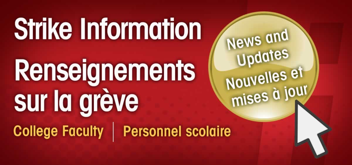 Strike Information News and updates, Renseignements sure la greve Novelles