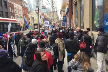 Great solidarity at George Brown College student rally