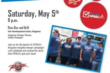 OPSEU Campaign Kick-off flyer