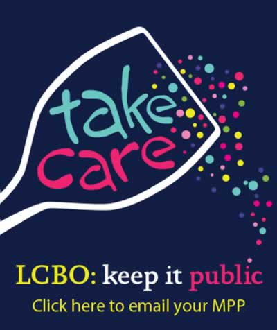 LCBO Keep it Public: Email your MPP