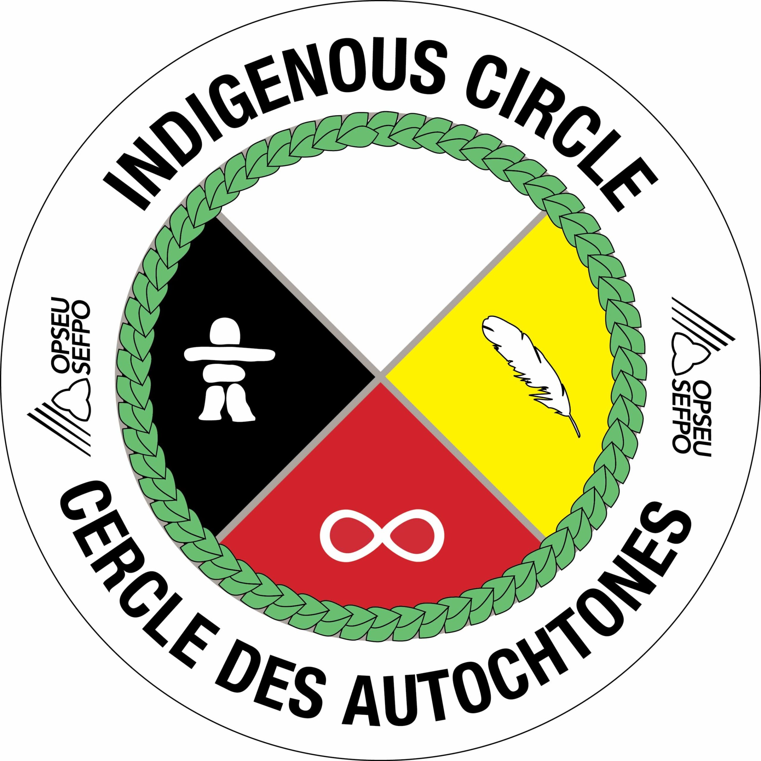 OPSEU SEFPO Indigenous Circle Cercle des autochtones logo