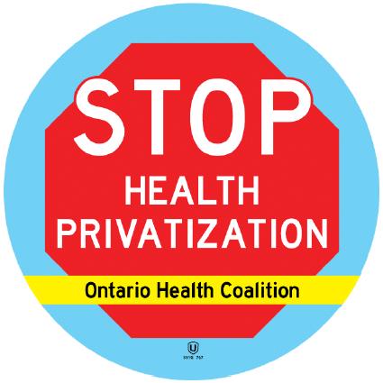 Stop Health Privatization - Ontario Health Coalition
