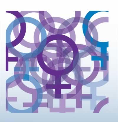 Collage of women's symbols