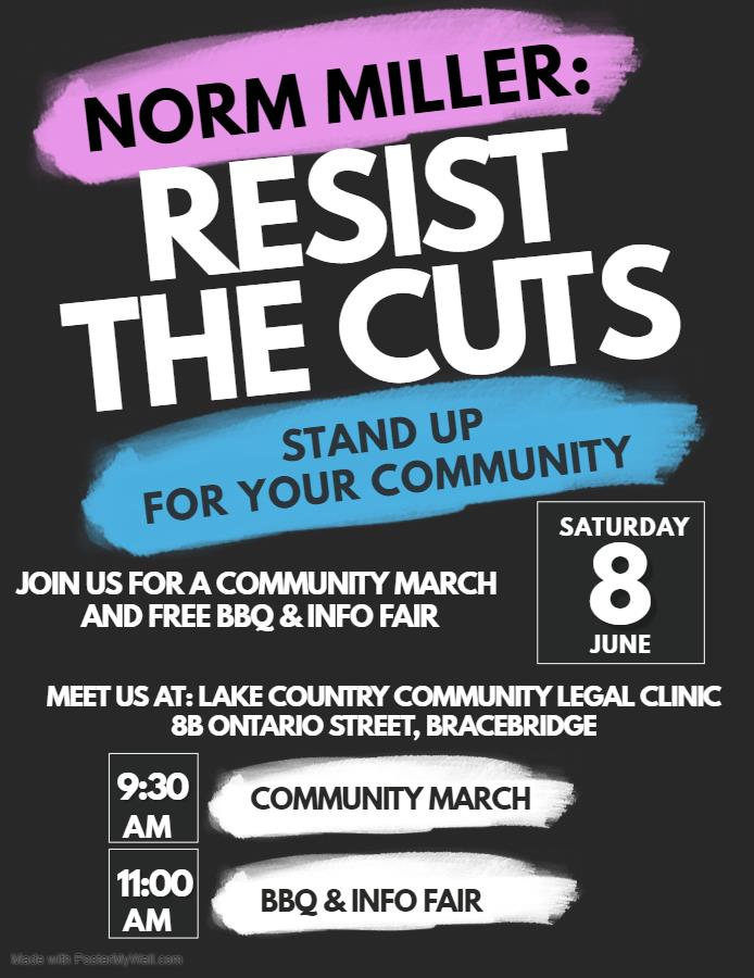 Norm Miller Resist the Cuts event poster
