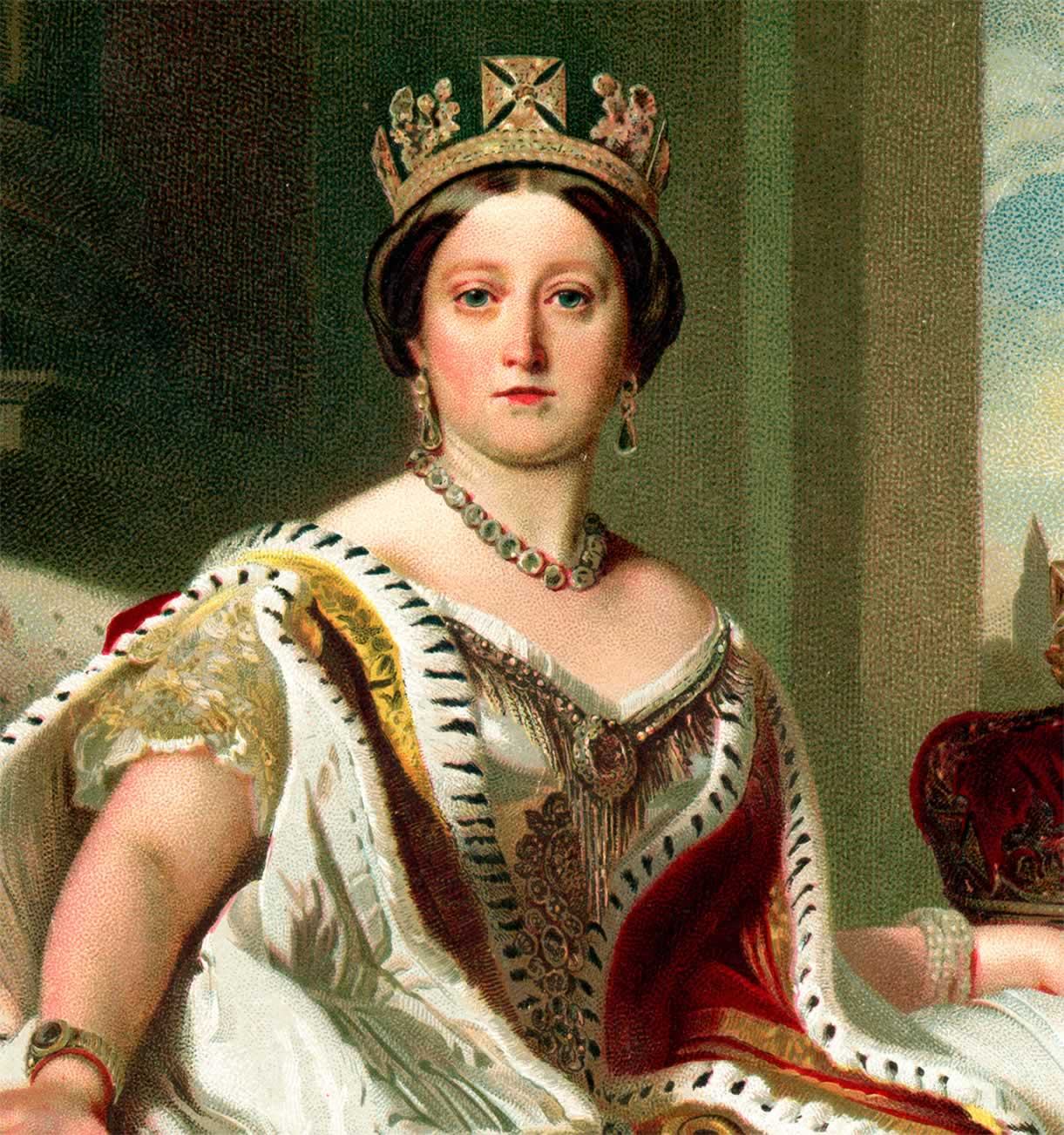 Painting of Queen Victoria.