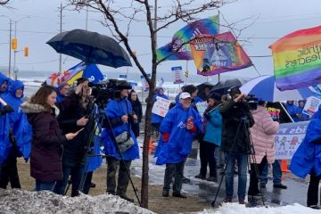 'Think big! There is strength in numbers' OPSEU's president tells parents at rally about autism cuts