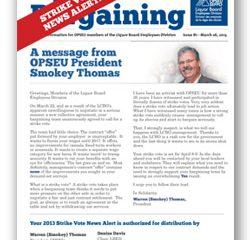 2013 Bargaining Strike Vote News Alert 3
