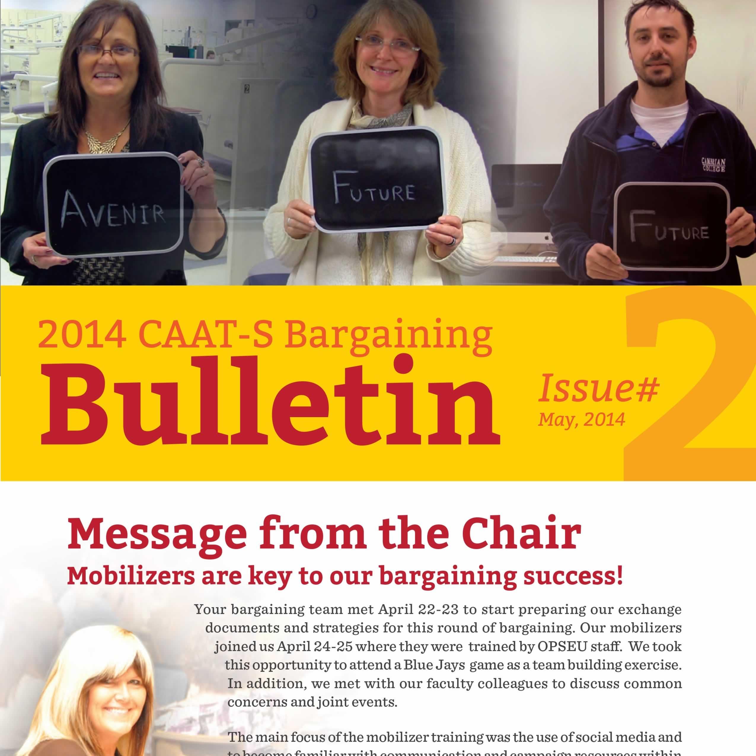 2014 CAAT-S Bargaining Bulletin Issue 2