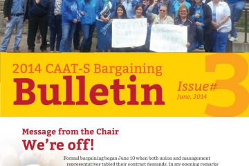 2014 CAAT-S Bargaining Bulletin, Issue 3