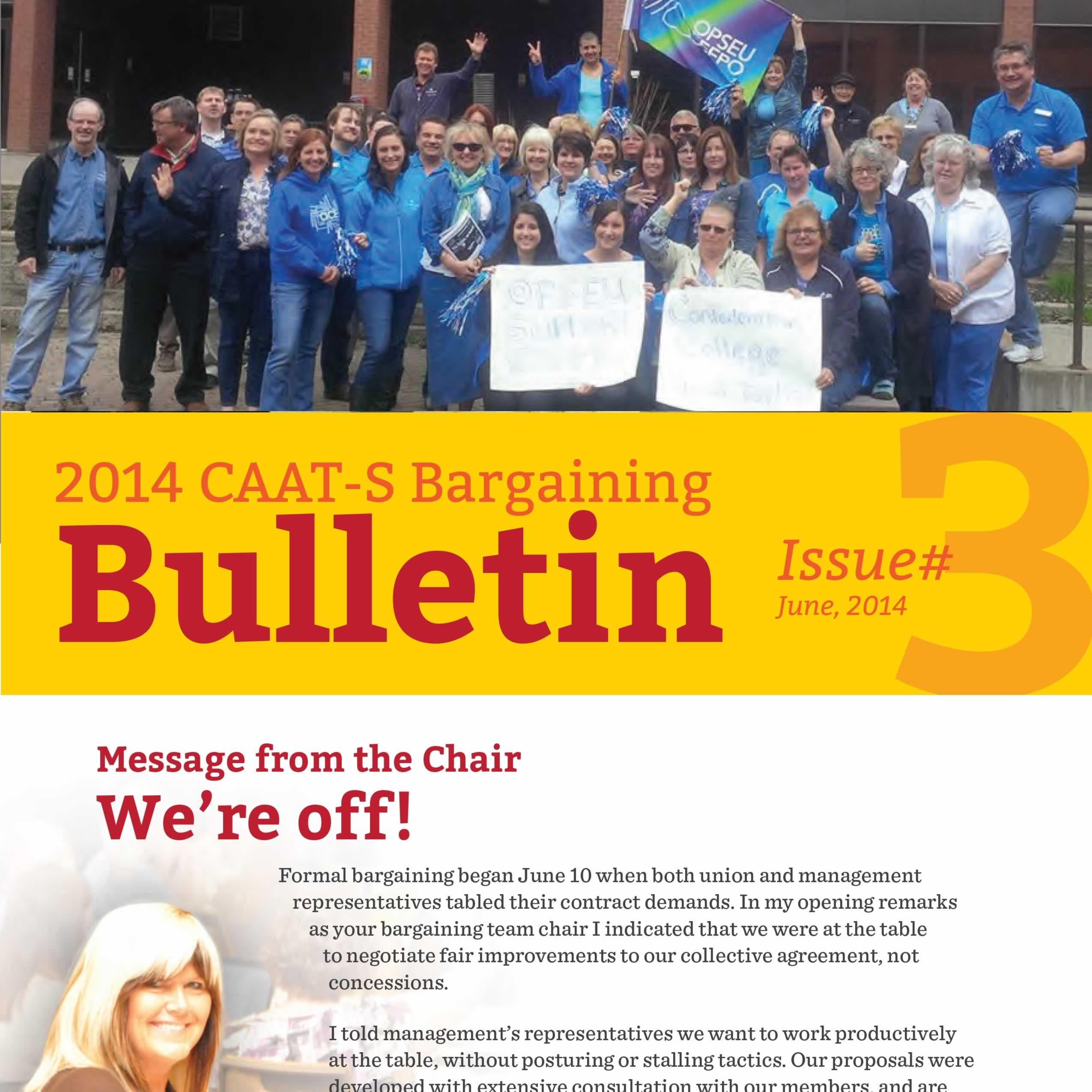 2014 CAAT-S Bargaining Bulletin Issue 3