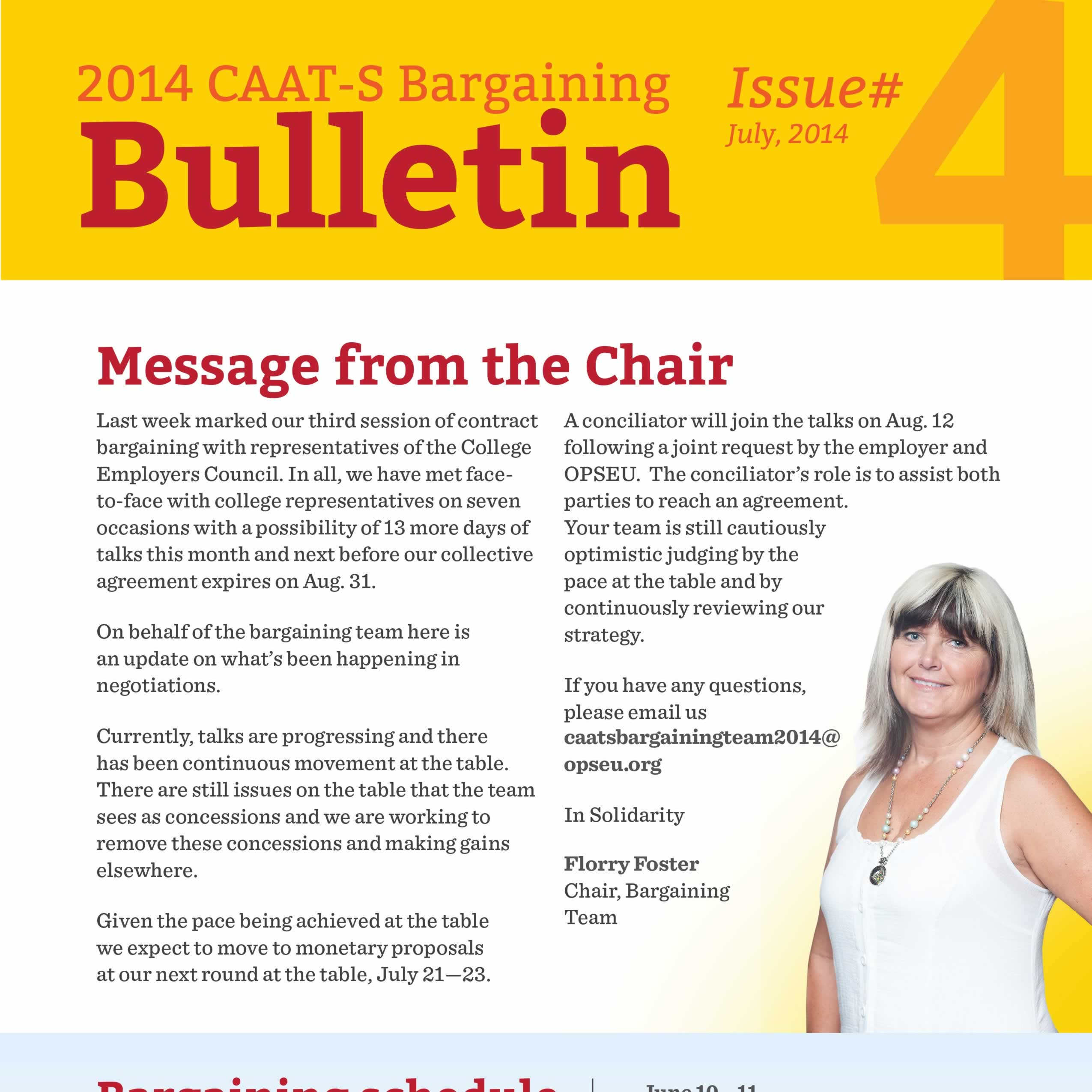 2014 CAAT-S Bargaining Bulletin Issue 4