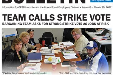 Team calls strike vote - 2017 LBED Bargaining Bulletin, Issue 8