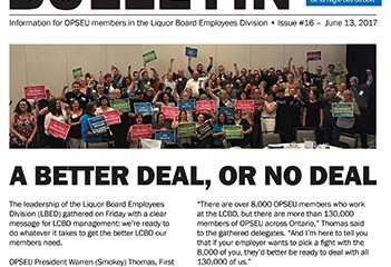 A better deal, or no deal - 2017 LBED Bargaining Bulletin #16