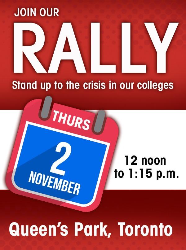 Rally at Queen's Park November 2