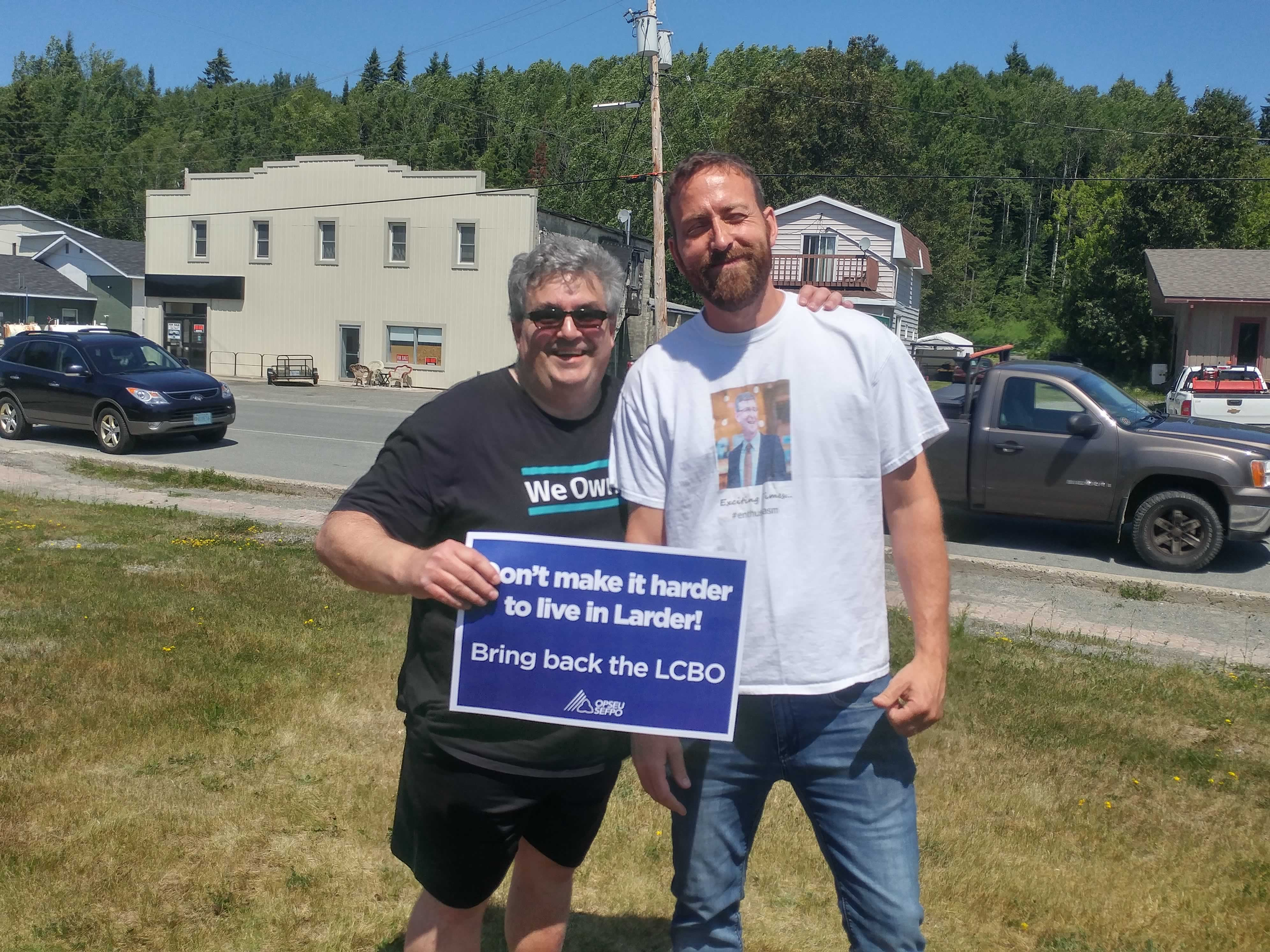 OPSEU members rally to save the LCBO in Larder Lake