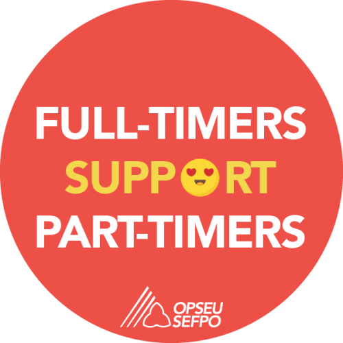 Full-timers support Part-timers