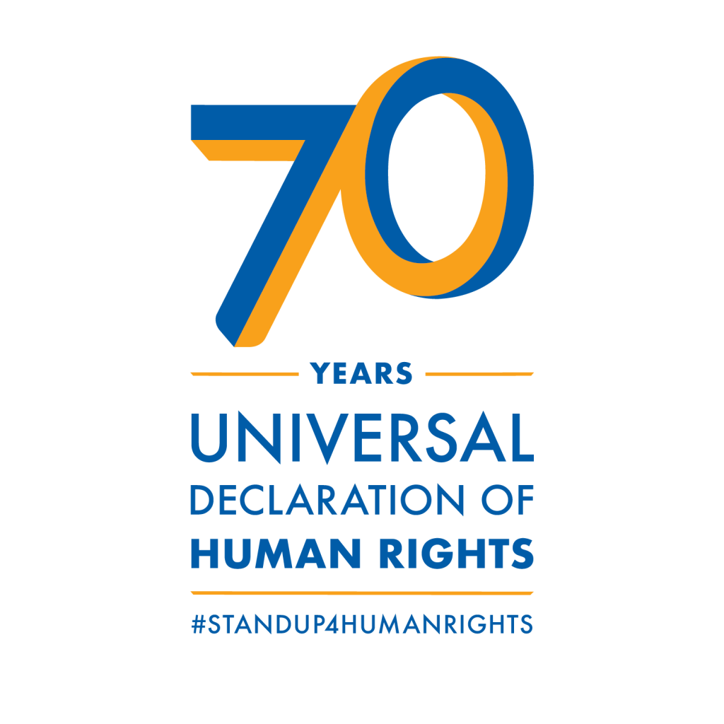70 Years Universal Declaration of Human Rights #StandUp4HumanRights