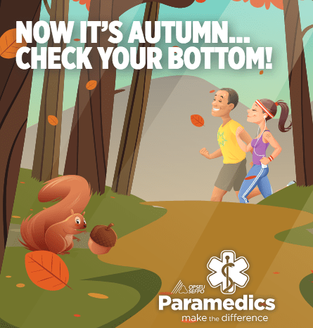 Now its autumn ... check your bottom! OPSEU Paramedics make the difference.