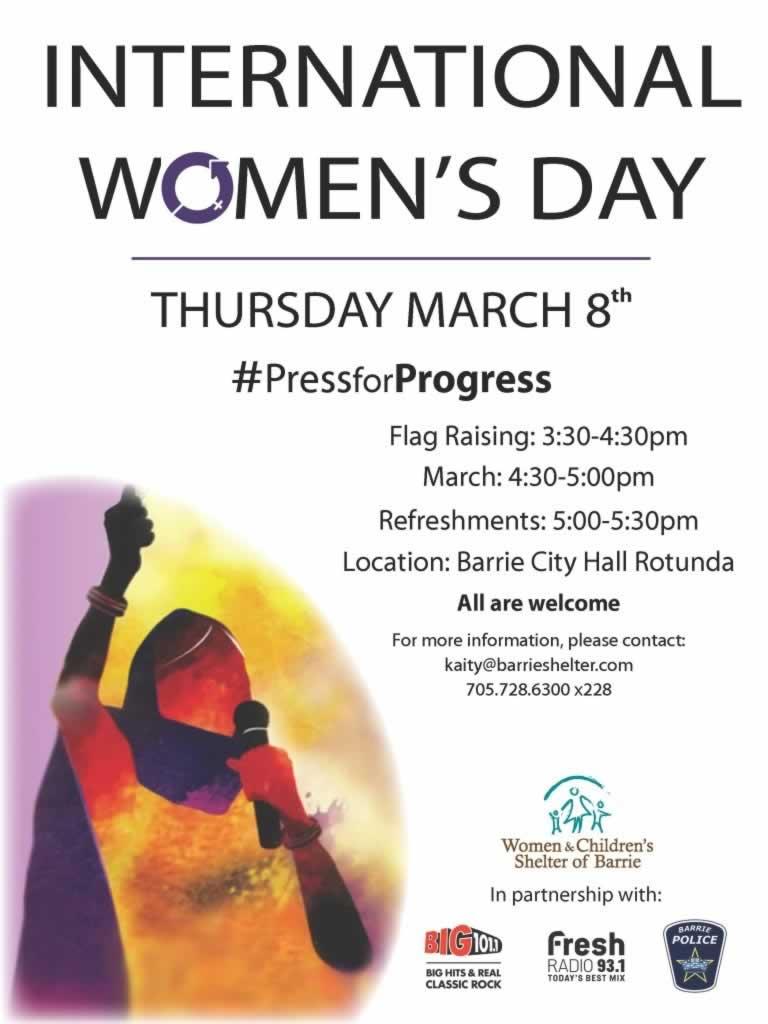 Barrie International Women's Day Poster