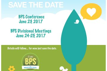 BPS Conference 2017 - Save the Date