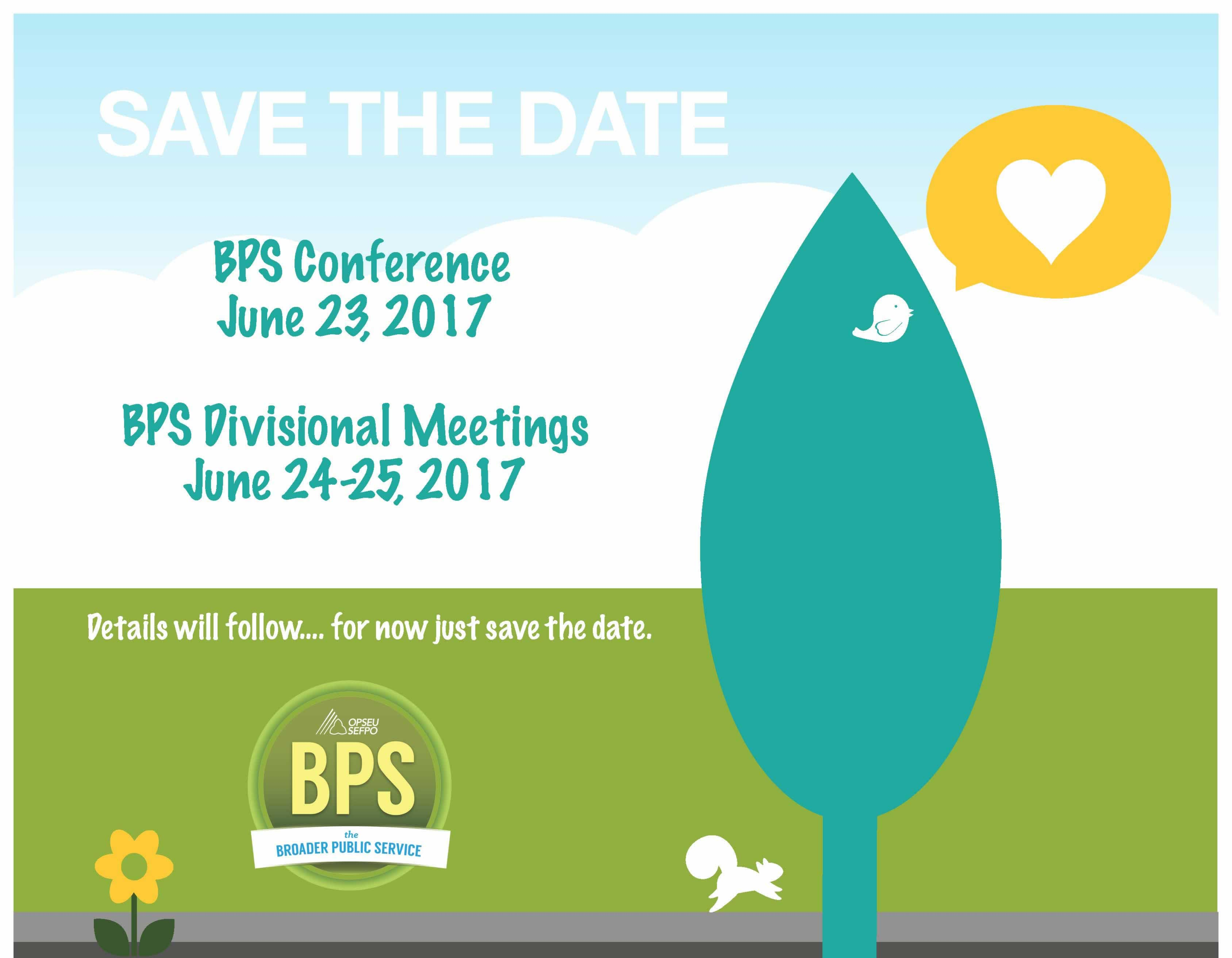Save the Date - BPS Conference, June 23, 2017