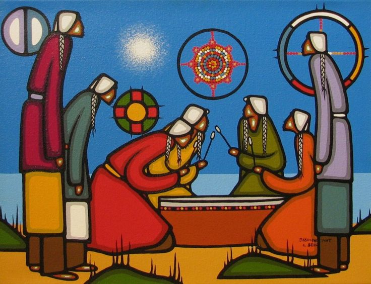 artist Leland Bell, Wikwemikong Unceded First Nation