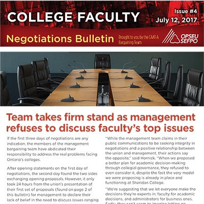 College Faculty Negotiations Bulletin