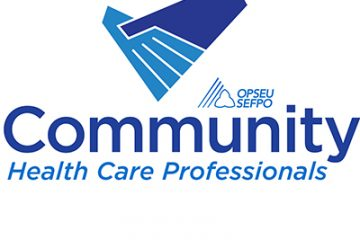 Community health care workers at St. Joseph's Hospice in Sarnia join OPSEU
