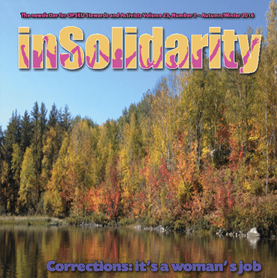 inSolidarity - volume 23, number 3, autumn/winter 2016