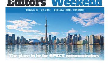 Editors Weekend 2017 October 27-29