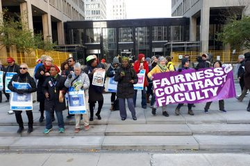 College faculty rally calls for action from government