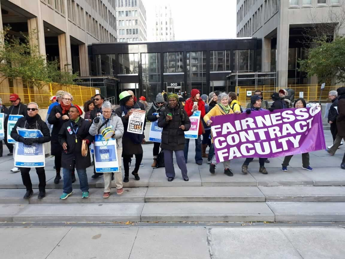 College faculty information picket and rally Wednesday, October 25, 2017