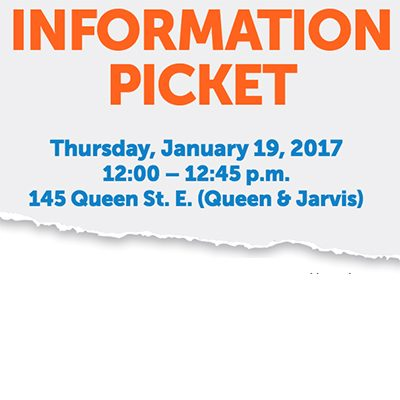 Fred Victor Information Picket: Thursday January 19, 2017 12:00 - 12:45 p.m.