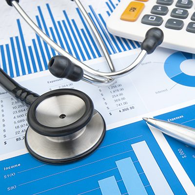 Stethescope, Calculator and Graph: Health Care Spending