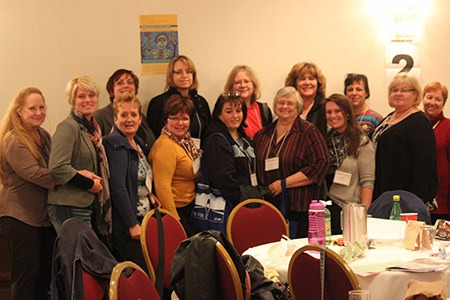 Large group of OPSEU members at the 2013 Women's Conference.