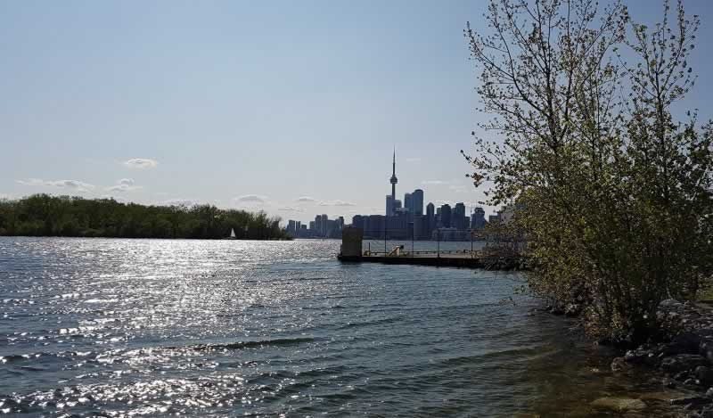 Lake Ontario with Toronto skyline in background